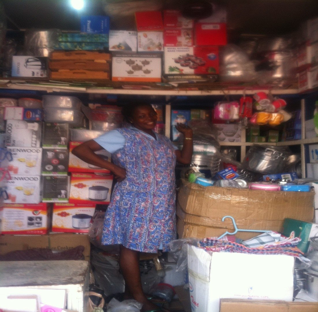 Abena microcredit cooking store